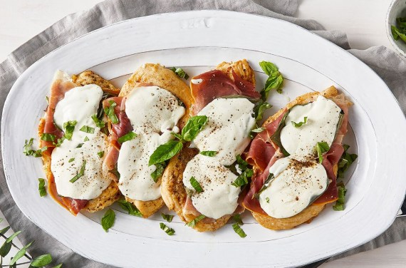 Chicken Saltimbocca with Basil