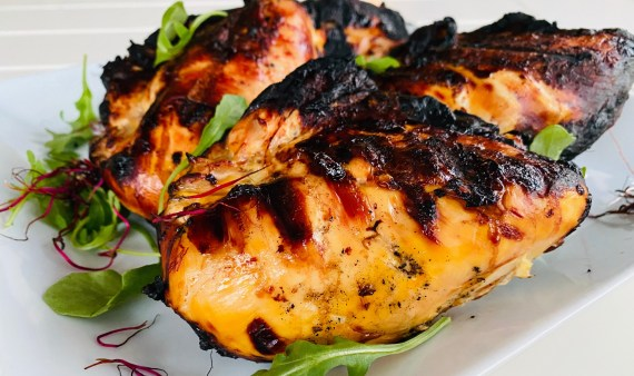 Lemon Honey Saffron Grilled Chicken