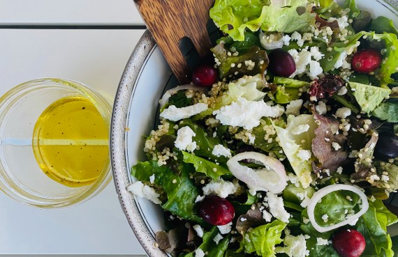 Quinoa Salad with Cranberries and Goat Cheese
